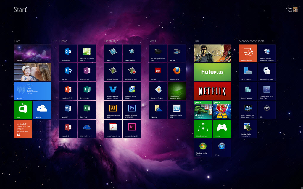how to change startup screen windows 8