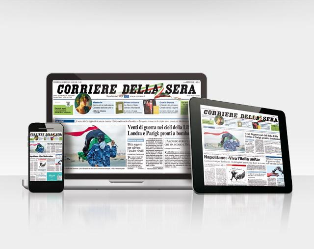 Il Corriere della Sera  disponibile su  smartphone ad un prezzo conveniente per tutti i clienti Vodafone.